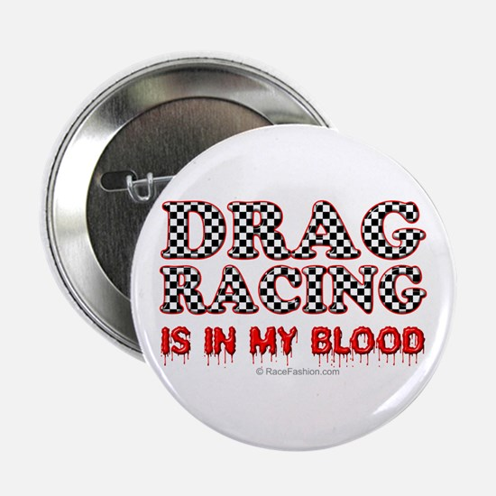 """Drag Racing Blood 2.25"""" Button"""