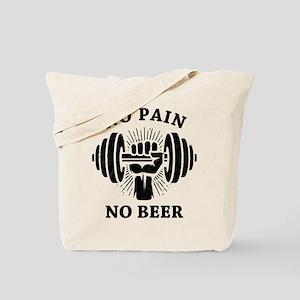 No Pain No Beer BLK Tote Bag