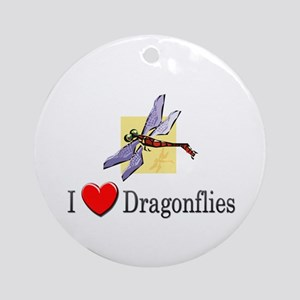 I Love Dragonflies Ornament (Round)