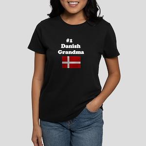 #1 Danish Grandma Women's Dark T-Shirt