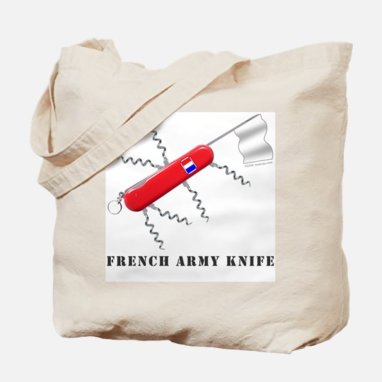 French Army Knife Tote Bag
