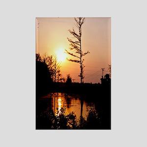 Delta Solemn Sunset Rectangle Magnet