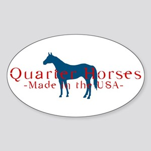 Quarter Horse Oval Sticker
