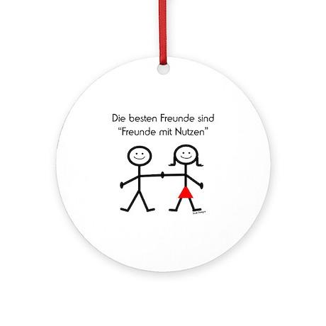 Freunde mit Nutzen Ornament (Round)