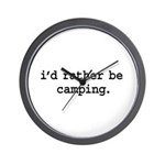 i'd rather be camping. Wall Clock