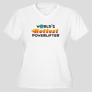 World's Hottest Power.. (C) Women's Plus Size V-Ne