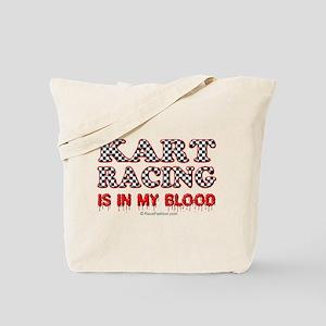Kart Racing Blood Tote Bag
