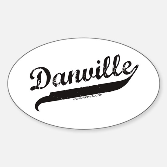 Danville Oval Decal