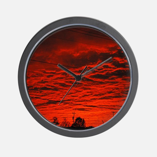 Delta Fiery Sunrise Wall Clock
