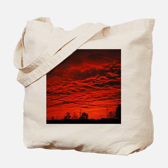 Delta Fiery Sunrise Tote Bag