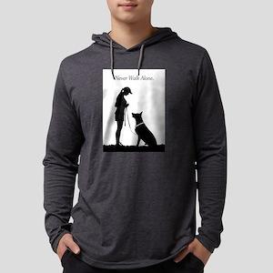 German Shepherd Silhouette Long Sleeve T-Shirt
