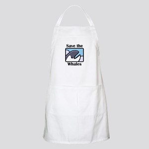 Save the Whales BBQ Apron