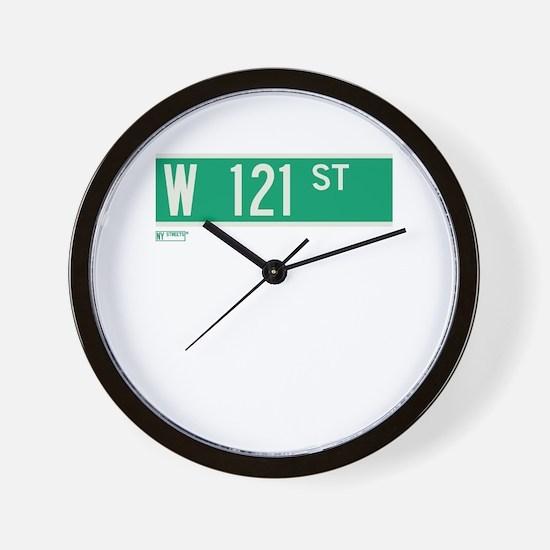 121st Street in NY Wall Clock