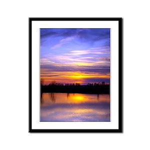 Delta Peaceful Sunset Framed Panel Print