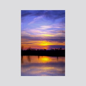 Delta Peaceful Sunset Rectangle Magnet