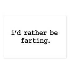 i'd rather be farting. Postcards (Package of 8)