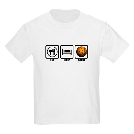 Eat, Sleep, Shoot (Basketball Kids Light T-Shirt