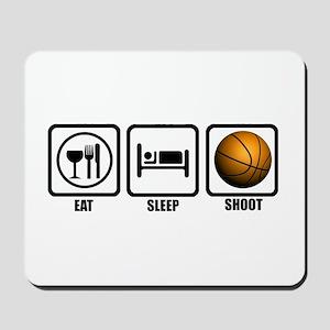 Eat, Sleep, Shoot (Basketball Mousepad