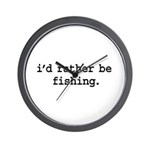 i'd rather be fishing. Wall Clock