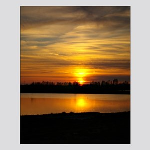 Delta Amber Sunset Small Poster