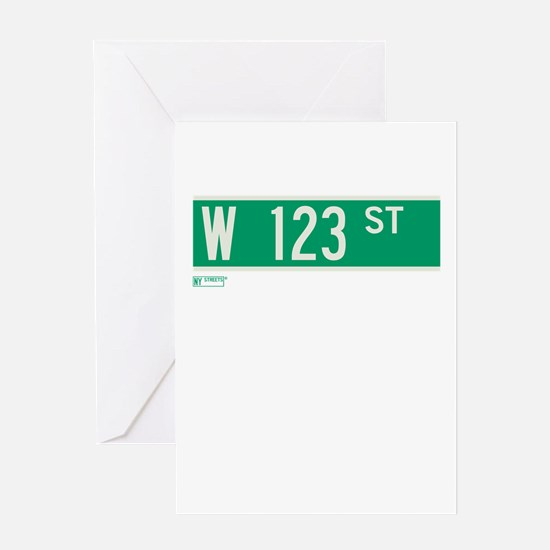 123rd Street in NY Greeting Card