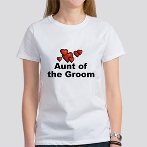 Hearts Aunt of the Groom Women's T-Shirt