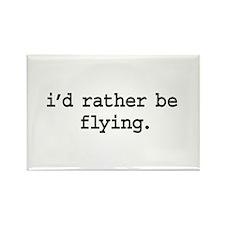 i'd rather be flying. Rectangle Magnet