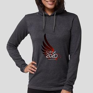 Maroon Eagle Womens Hooded Shirt