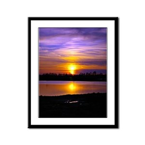 Delta Purple Sunset Framed Panel Print