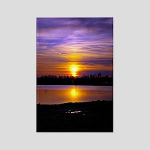 Delta Purple Sunset Rectangle Magnet
