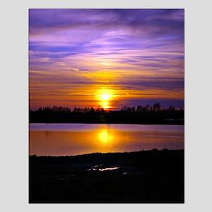 Delta Purple Sunset Small Poster