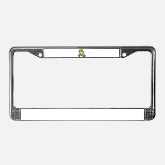 STRAWBERRY PLANT (3) License Plate Frame