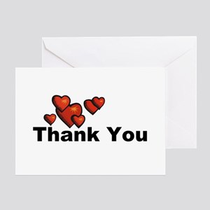 Hearts Thank You Greeting Card