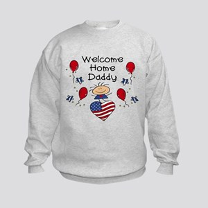 Welcome Home Daddy - Girl Kids Sweatshirt