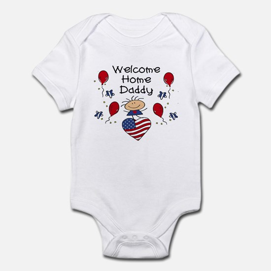 Welcome Home Daddy - Girl Infant Bodysuit