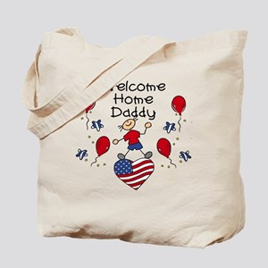 Welcome Home Daddy - Boy Tote Bag