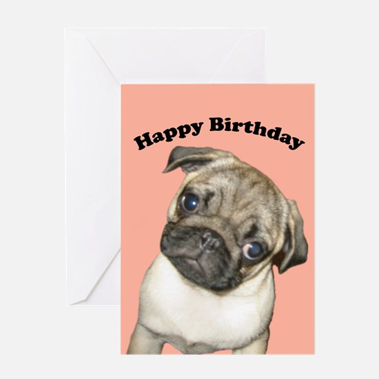 Pug Puppy Birthday Cards (Pk of 10) Greeting Cards
