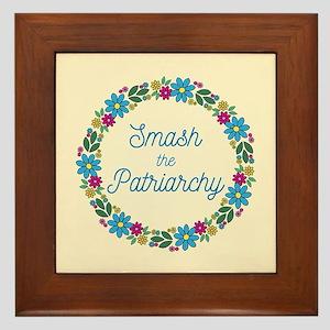 Smash the Patriarchy Framed Tile