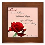 Love (1 Cor 13:7) Framed Tile