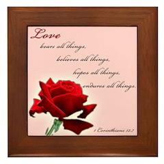 Love (1 Cor 13:7) Framed Tile