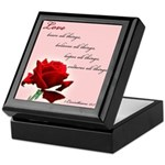 Love (1 Cor 13:7) Keepsake Box