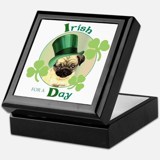 St. Patrick Pug Keepsake Box
