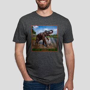 Bathing a Young Elephant in Kerala, India T-Shirt