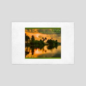 Sunrise on the Kerala water ways 4' x 6' Rug