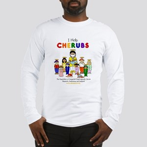 """I Help CHERUBS"" Doctor David Logo Character  Long"