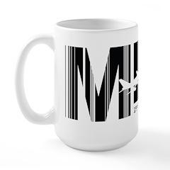 Mexico City MEX Air Wear Airport Large Mug
