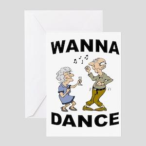 DANCING SENIORS Greeting Cards