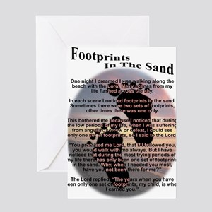 Footprints In The Sand Greeting Cards (Package of