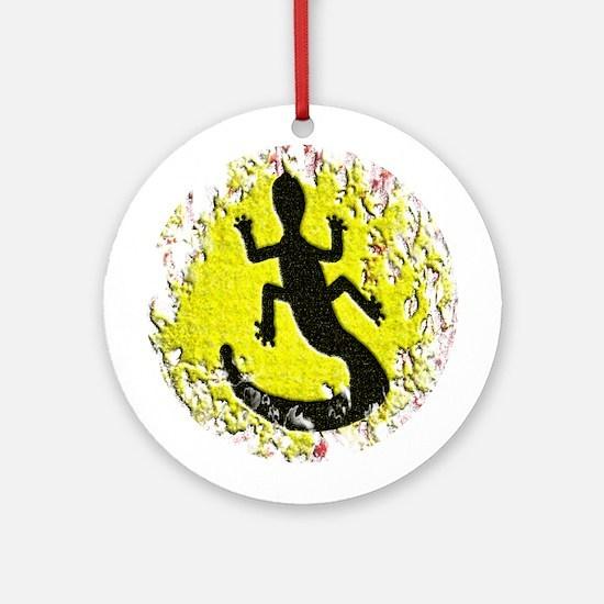 Dot Painting Lizard Ornament (Round)