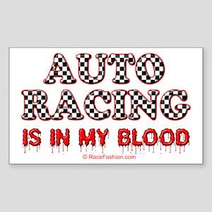 Auto Racing Blood Rectangle Sticker